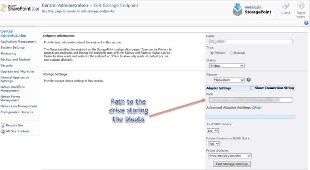 StoragePointPathLocation